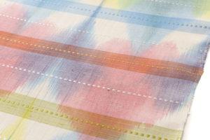 小島秀子作 紬名古屋帯地「春の予感」のサブ3画像