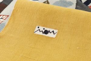 佐藤百恵作 型絵染紬名古屋帯地「落葉」のサブ5画像