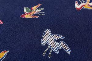 浦野理一作 一方付け小紋着尺「磯の千鳥」のサブ6画像