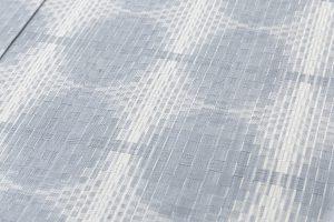 見留敦子作 紬着物地「丸紋格子」のサブ3画像