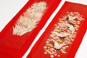 舞妓衣裳 縮緬紅刺繍襟のサブ1画像