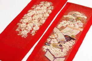 舞妓衣裳 縮緬紅刺繍襟のサブ2画像