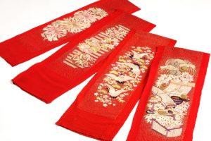 舞妓衣裳 縮緬紅刺繍襟のサブ3画像