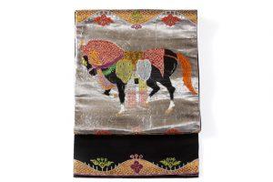 龍村平蔵製 袋帯  天竺祭馬文のサブ1画像