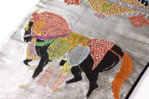龍村平蔵製 袋帯  天竺祭馬文のサブ3画像