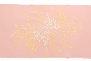 人間国宝 福田喜重作 刺繍塩瀬名古屋帯 菊のサブ2画像
