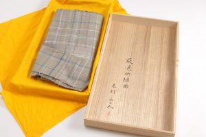志村ふくみ作 紬訪問着 灰色の組曲のサブ4画像