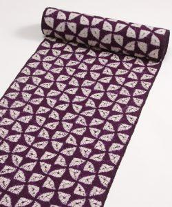 紫根染め 紬着尺のメイン画像