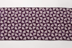 紫根染め 紬着尺のサブ1画像