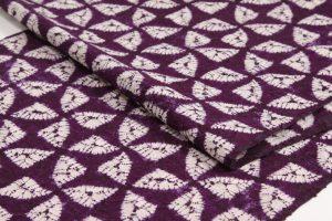 紫根染め 紬着尺のサブ5画像