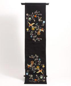 龍村美術織物製 たつむら 袋帯地「花喰舞鳥文」 のメイン画像