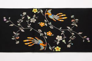 龍村美術織物製 たつむら 袋帯地「花喰舞鳥文」 のサブ2画像