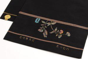龍村美術織物製 たつむら 袋帯地「花喰舞鳥文」 のサブ3画像