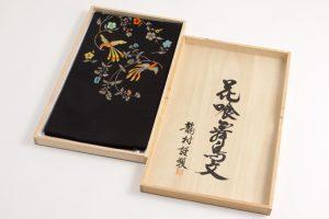 龍村美術織物製 たつむら 袋帯地「花喰舞鳥文」 のサブ4画像