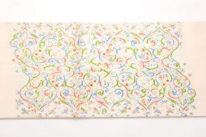 龍村美術織物製 袋帯地 「唐貴楽遊文」 のサブ3画像