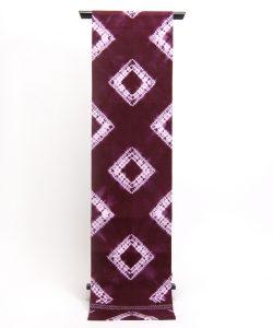 草紫堂製 南部紫根染 綿九寸名古屋帯 のメイン画像