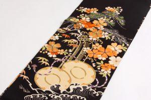 アンティーク刺繍友禅丸帯のサブ1画像