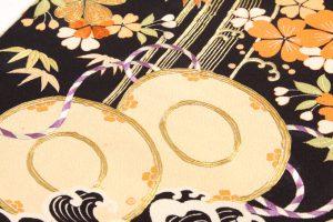 アンティーク刺繍友禅丸帯のサブ2画像