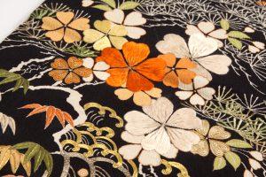 アンティーク刺繍友禅丸帯のサブ3画像