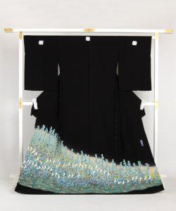 百貫華峰作 本加賀友禅留袖 「千鳥に松」のメイン画像
