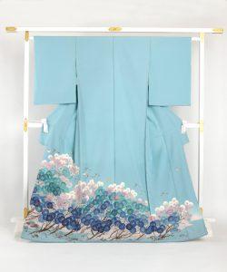 毎田仁郎作 本加賀友禅色留袖 「はい松に千鳥」のメイン画像