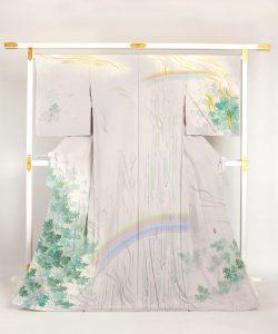 中町博志作 本加賀友禅訪問着「那智魂雲」のメイン画像