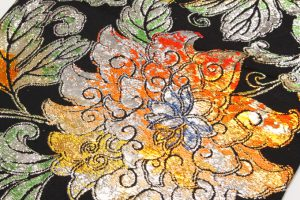 龍村平蔵製 丸帯  大牡丹印金錦のサブ2画像