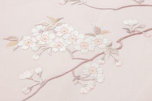 手刺繍 塩瀬名古屋帯のサブ1画像