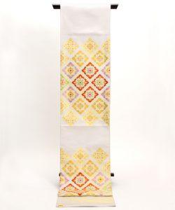 龍村美術織物製 袋帯地「彩華稜映錦」 のメイン画像