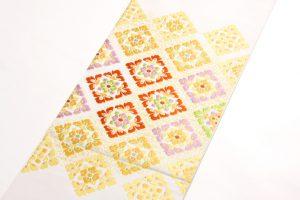 龍村美術織物製 袋帯地「彩華稜映錦」 のサブ1画像