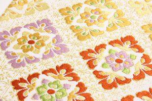 龍村美術織物製 袋帯地「彩華稜映錦」 のサブ2画像