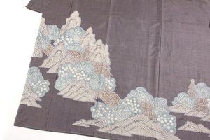藤娘大島絞り 訪問着のサブ6画像