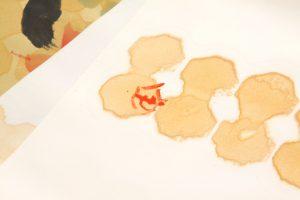 人間国宝 芹沢銈介作 塩瀬名古屋帯地「いろはにほへと」のサブ4画像