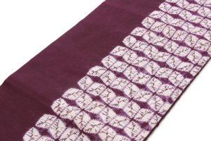 南部紫根染 草紫堂謹製 綿九寸名古屋帯 のサブ1画像