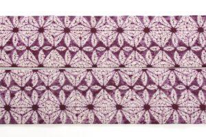 南部紫根染 草紫堂謹製 綿九寸名古屋帯 のサブ3画像