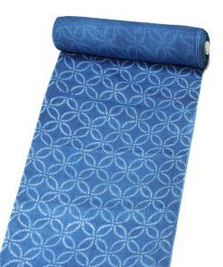 千葉よしの作 正藍染 上布 着尺のメイン画像