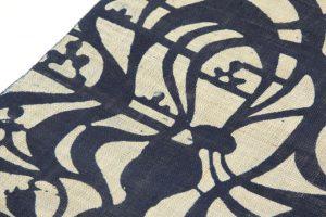 藍染型絵  麻名古屋帯地のサブ2画像
