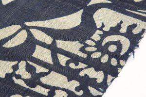 藍染型絵  麻名古屋帯地のサブ5画像