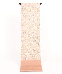 岡本紘子作 型絵染紬九寸帯のメイン画像