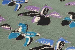 添田敏子作 型絵染紬九寸名古屋帯のサブ2画像