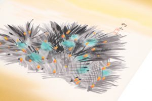木村雨山作 塩瀬九寸名古屋帯のサブ2画像