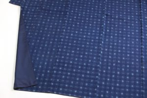 秋山眞和作 花織紬着物のサブ2画像