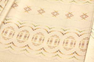 宮平初子作 花織紬訪問着のサブ3画像