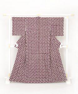 紫根染め 紬着物のメイン画像