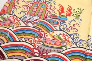 城間栄順作 琉球紅型振袖地のサブ3画像