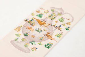 龍村平蔵製 袋帯 「幻彩漆朔瓶」のサブ1画像
