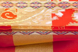 龍村平蔵製 袋帯「円文百虎錦」のサブ4画像
