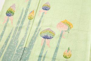 木村雨山作 本加賀友禅訪問着「ねぎ」のサブ2画像