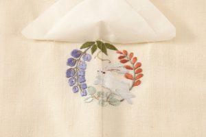 本場結城紬訪問着 100亀甲総詰絣のサブ4画像