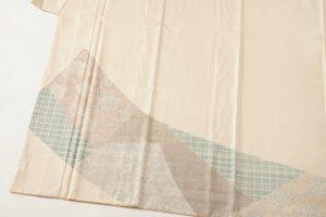 本場結城紬訪問着 100亀甲総詰絣のサブ5画像